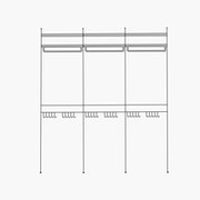 """Deluxe/Purse and Shirt/Simple - 3 Bays - 24"""" Wide Shelves"""