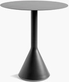 A Palissade Cone Table in dark grey.