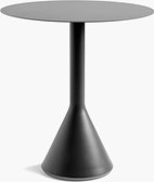 A Palissade Cone Table in dark grey.