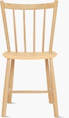 An oak J 41 Side Chair viewed from the front