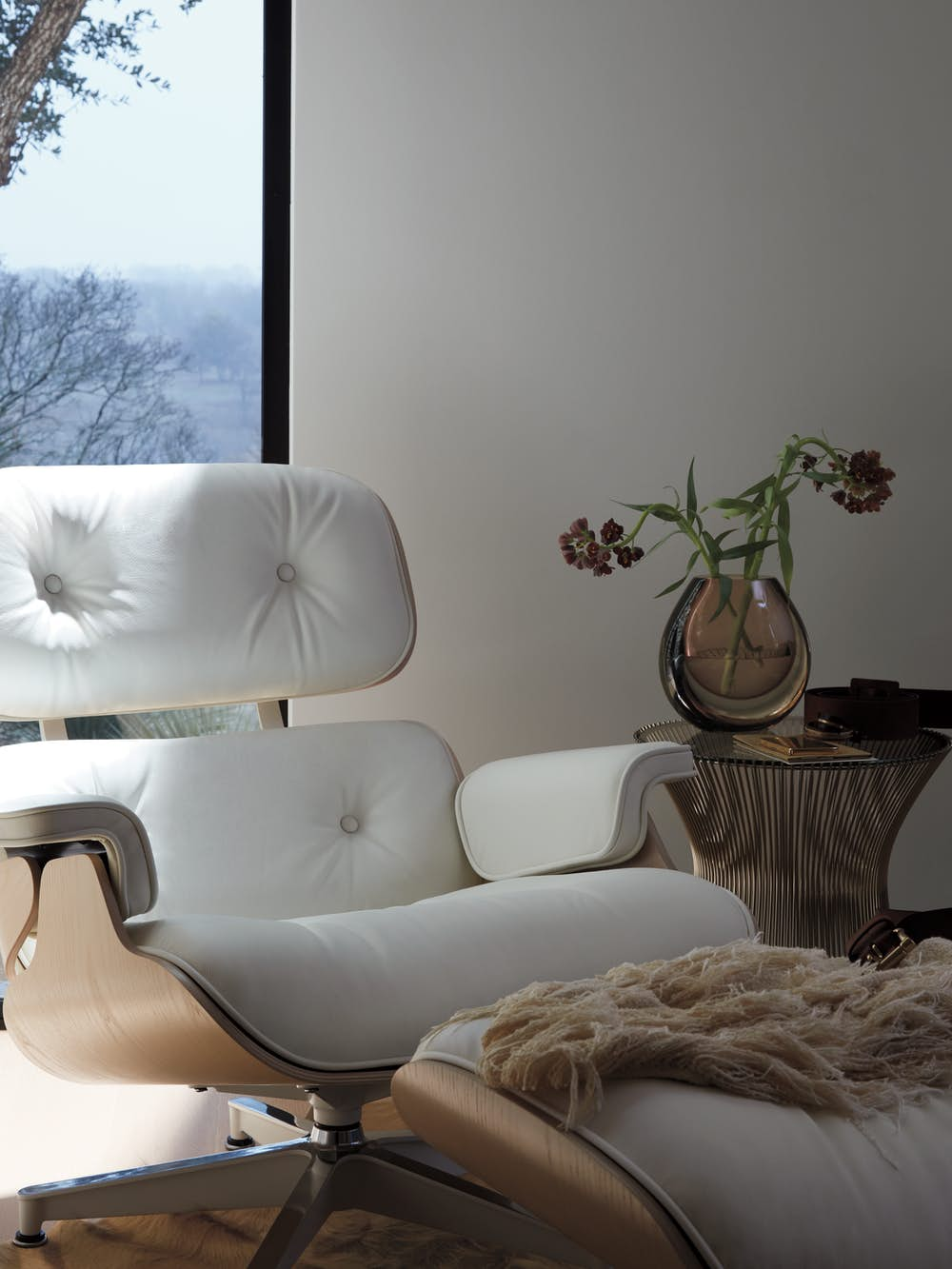 Eames Lounge Chair and Ottoman with Platner Side Table