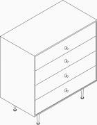 Nelson Thin Edge 4-Drawer Chest