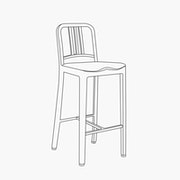 Bar Height - Armless - With Wood Seat