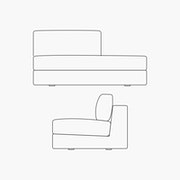 Right Facing Chaise