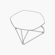 Polygon Medium Wire Table