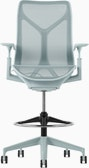 A glacierCosm Stool with height-adjustable arms.