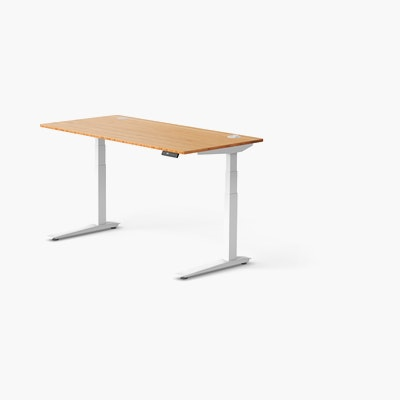 Large Jarvis Bamboo Standing Desk, Rectangular with Programmable, with Grommet