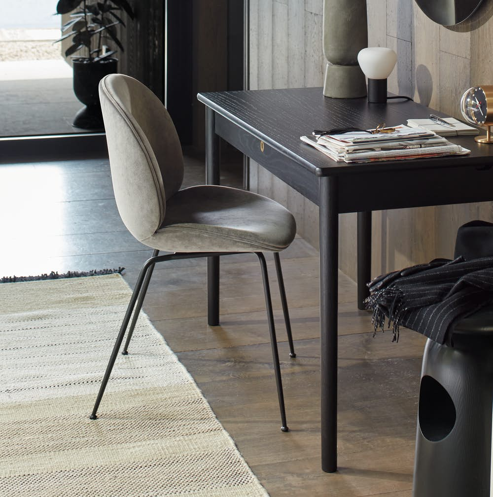 Runner Rug Under Chair and Desk