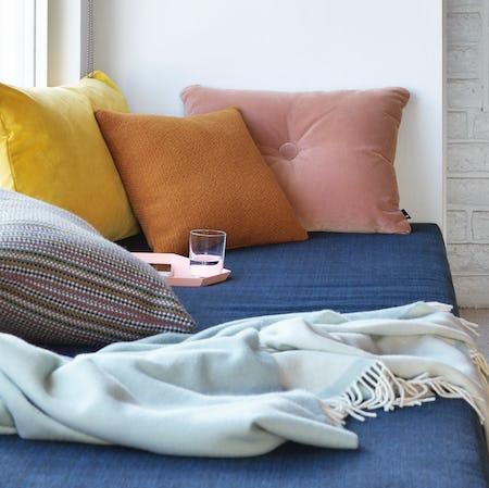 Dot Pillow in Steelcut Trio Fabric