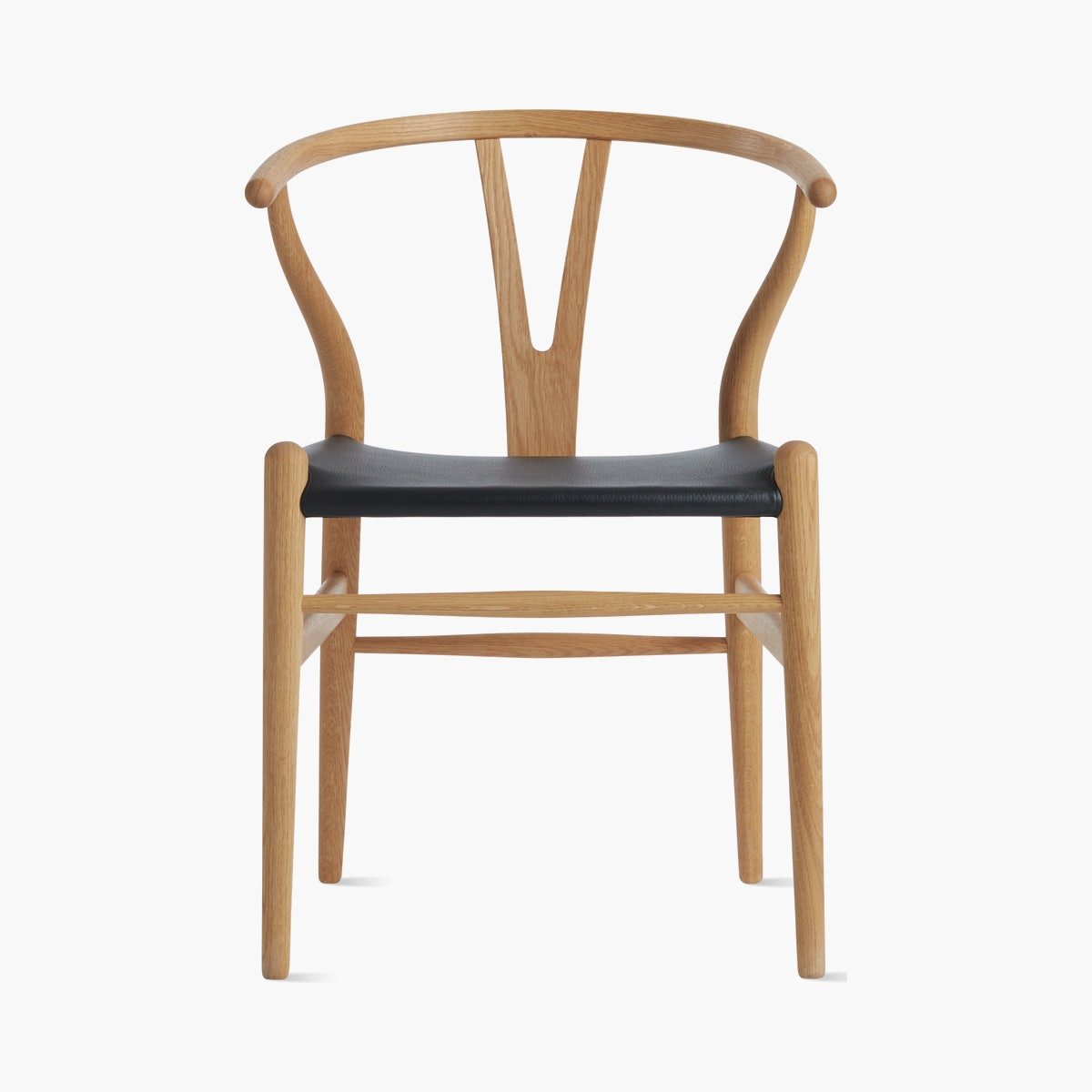 Wishbone Chair with Leather Seat