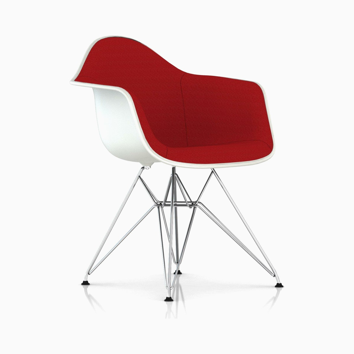 Eames Upholstered Molded Plastic Armchair
