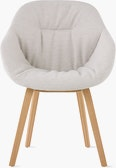 AAC 123 Soft Mono About A Chair Upholstered Armchair Wood Base